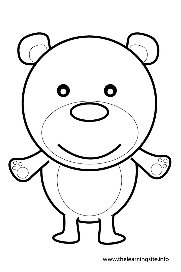coloring-page-outline-animals-bear
