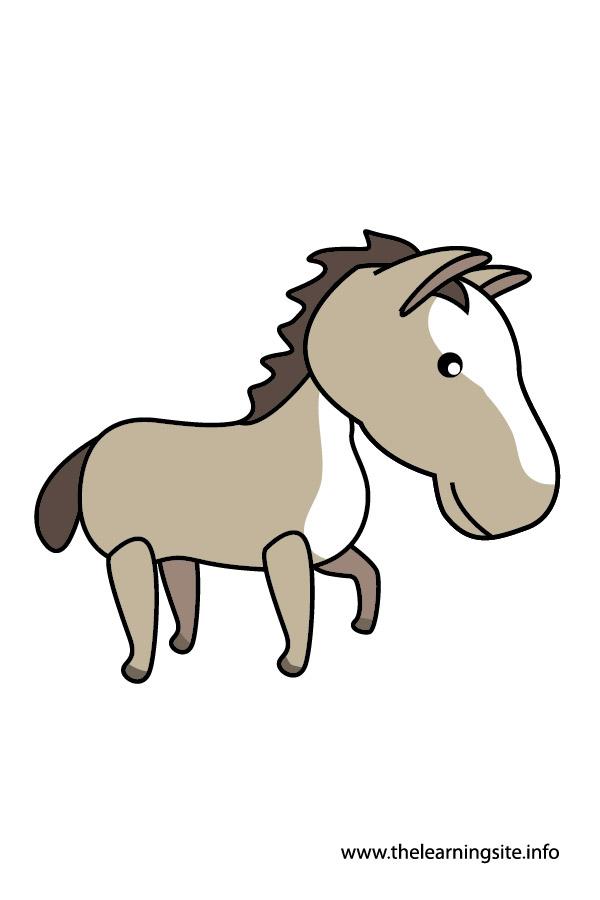 horse animal flashcard and clip art