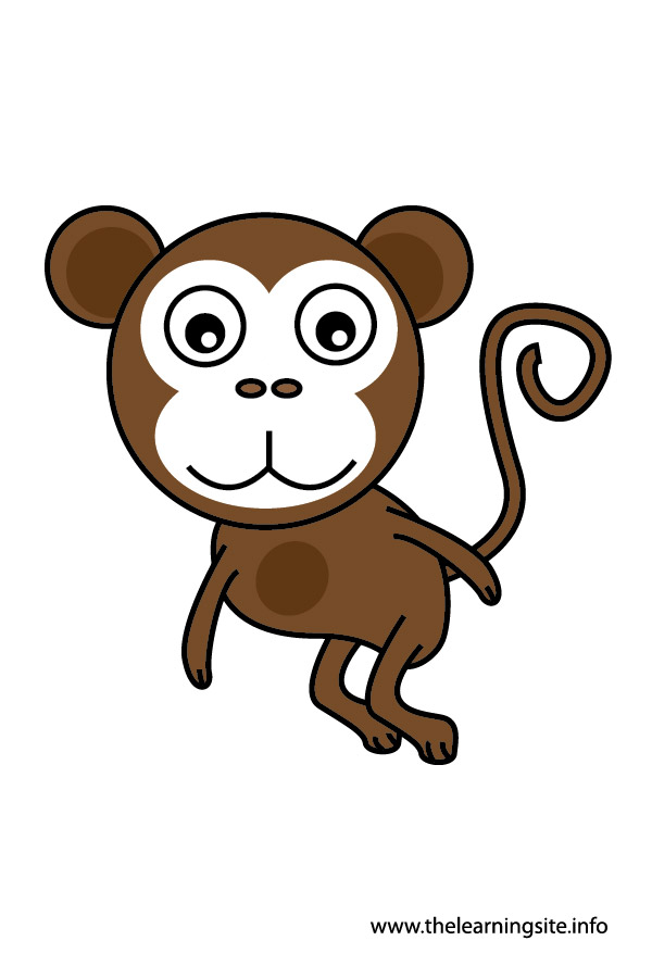 monkey animal flashcard and clip art