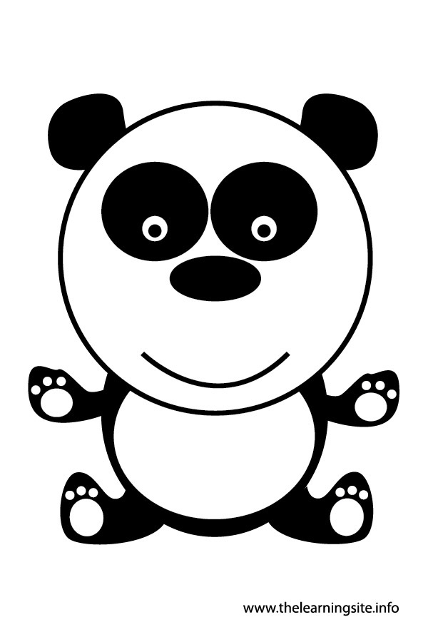 panda animal flashcard and clip art