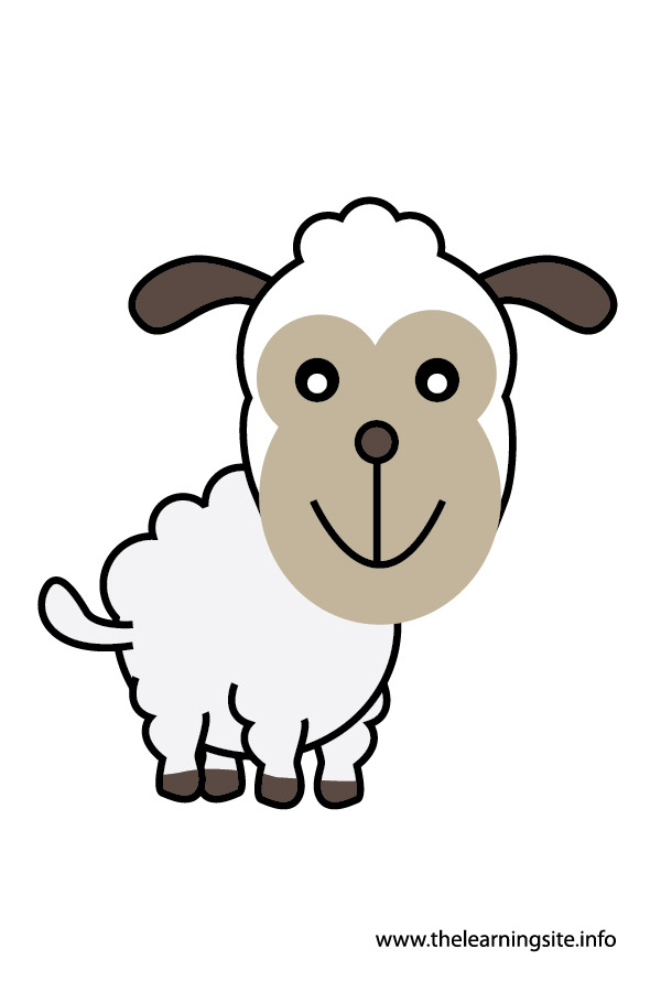 sheep animal flashcard and clip art