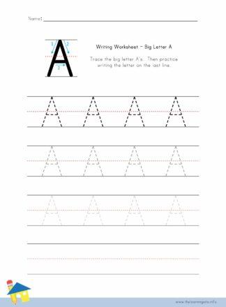 Big Letter Writing Worksheets