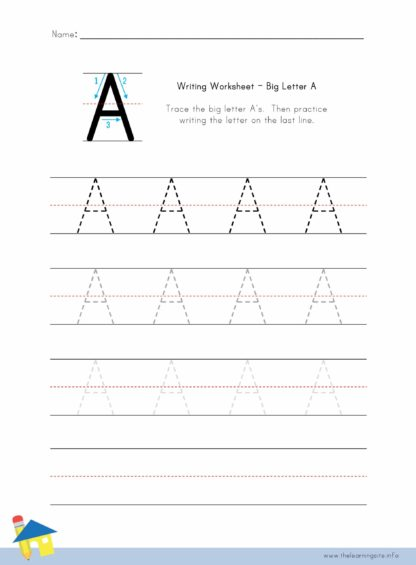 Big Letter A Writing Worksheet
