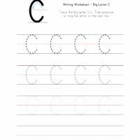 Big Letter C Writing Worksheet