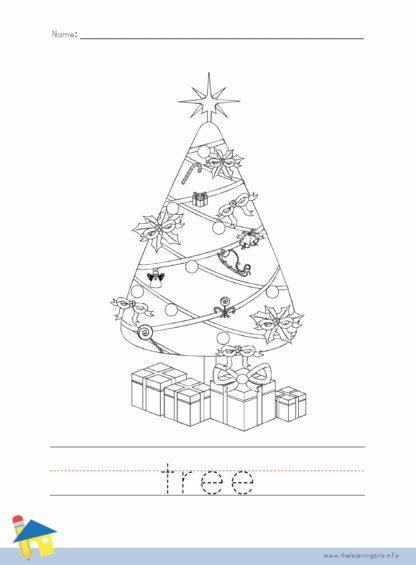 Christmas Tree Coloring Worksheet