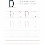 Big Letter D Writing Worksheet