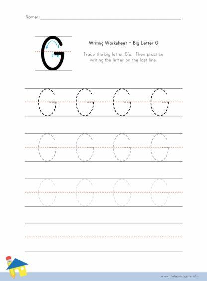 Big Letter G Writing Worksheet