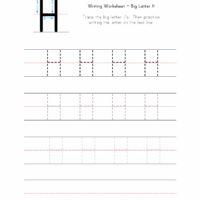 Big Letter H Writing Worksheet