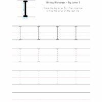 Big Letter I Writing Worksheet