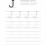 Big Letter J Writing Worksheet