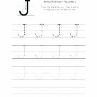 Big Letter J Writing Worksheet