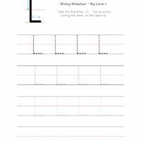 Big Letter L Writing Worksheet