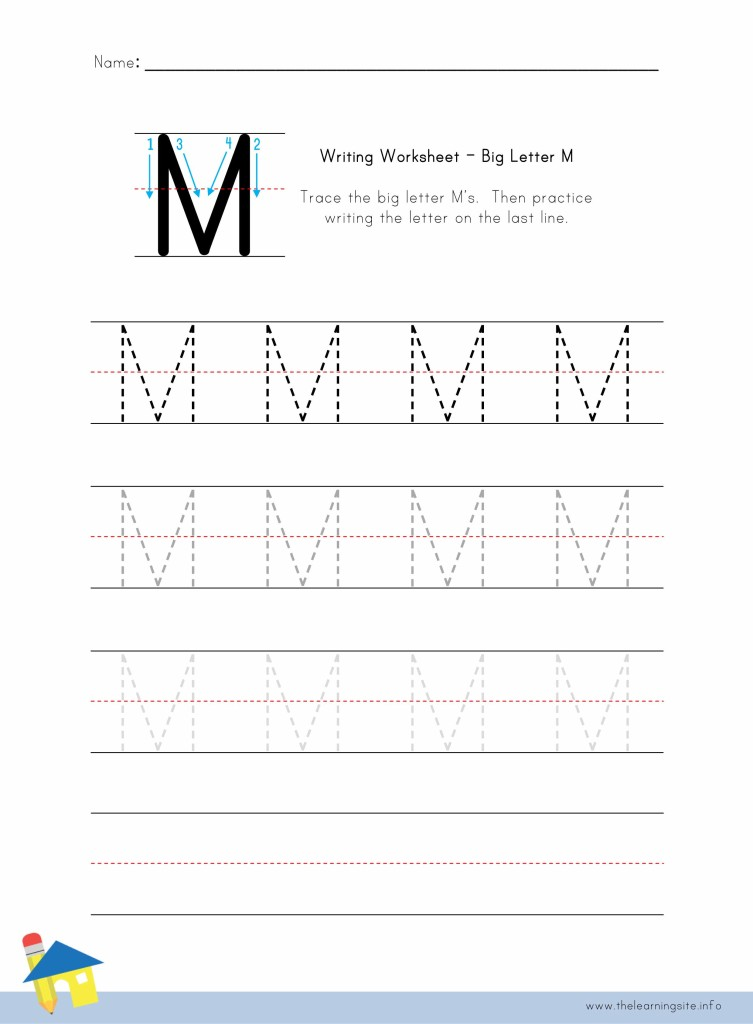 Big Letter M Writing Worksheet