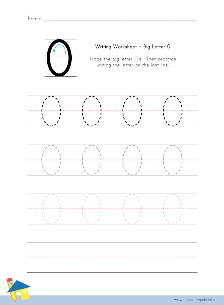 Big Letter O Writing Worksheet