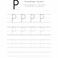 Big Letter P Writing Worksheet