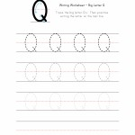 Big Letter Q Writing Worksheet