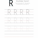 Big Letter R Writing Worksheet