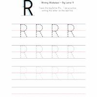 Big Letter R Writing Worksheet