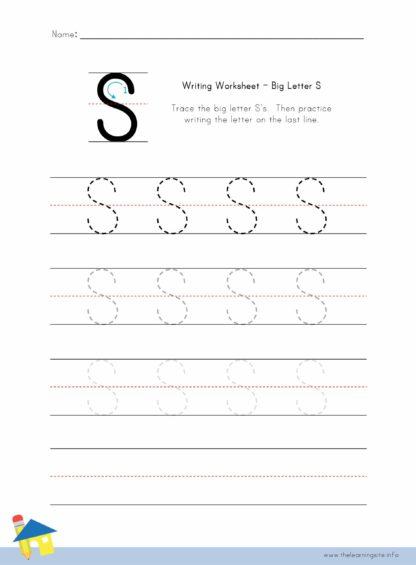 Big Letter S Writing Worksheet