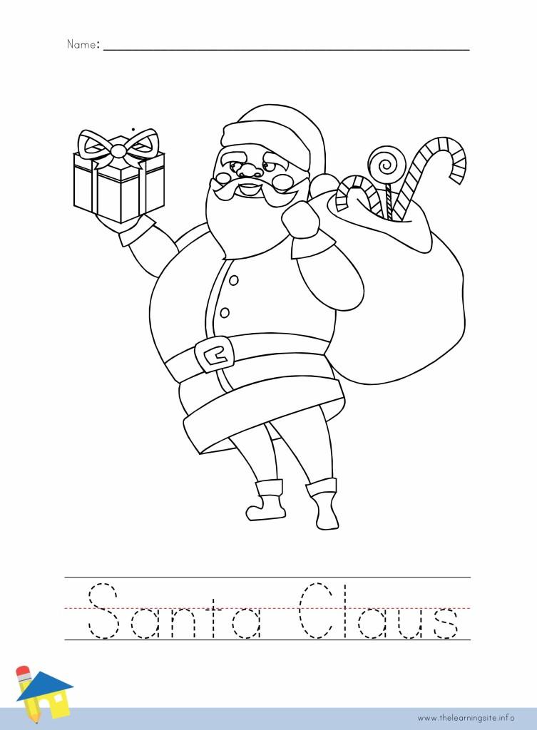 Santa Claus Coloring Page Outline