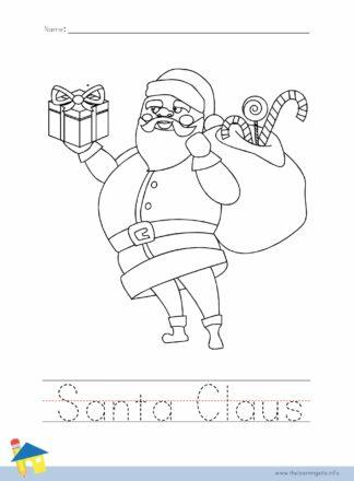 Santa Claus Coloring Worksheet