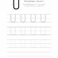 Big Letter U Writing Worksheet
