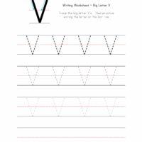 Big Letter V Writing Worksheet