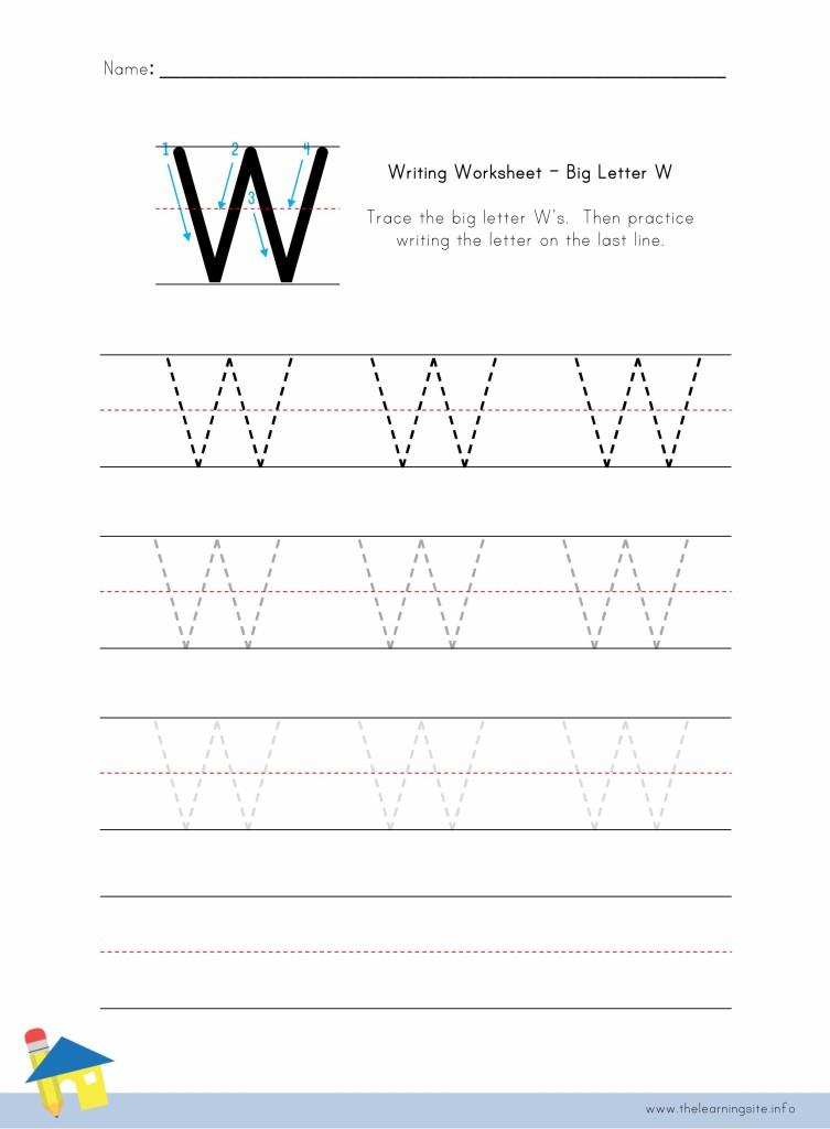 Big Letter W Writing Worksheet