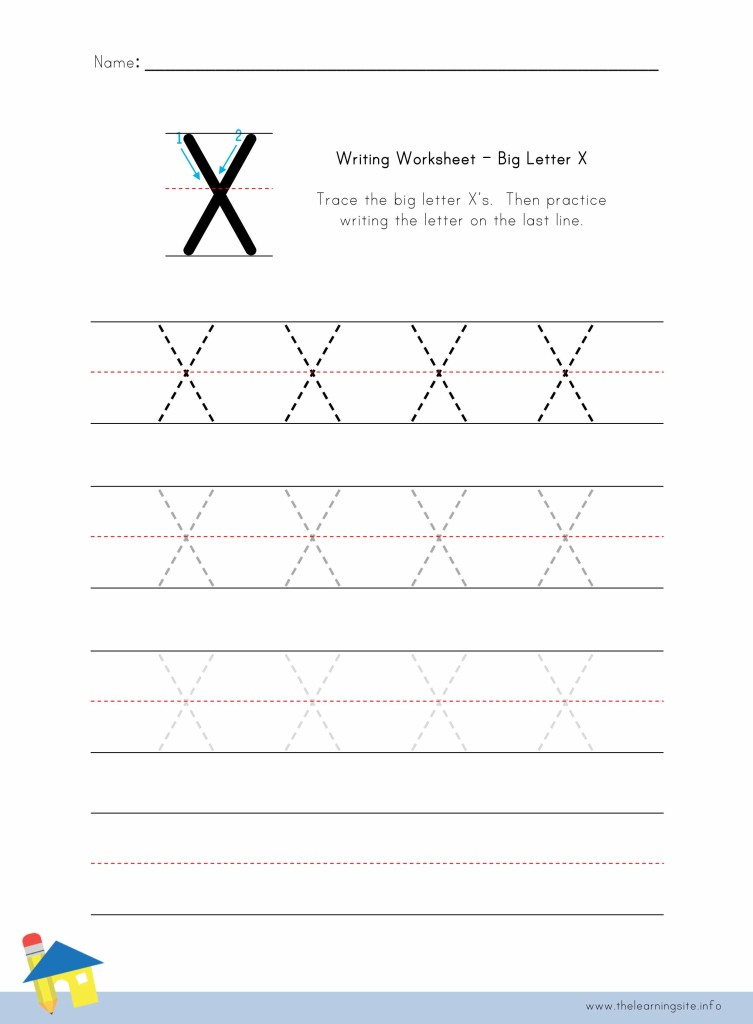 Big Letter W Writing Worksheet