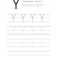 Big Letter Y Writing Worksheet