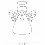 Angel Coloring Worksheet