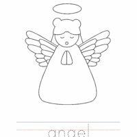 Angel Coloring Worksheet
