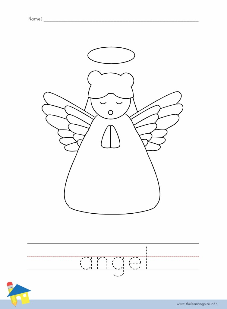 Angel Coloring Page Outline