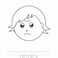 Angry Coloring Worksheet