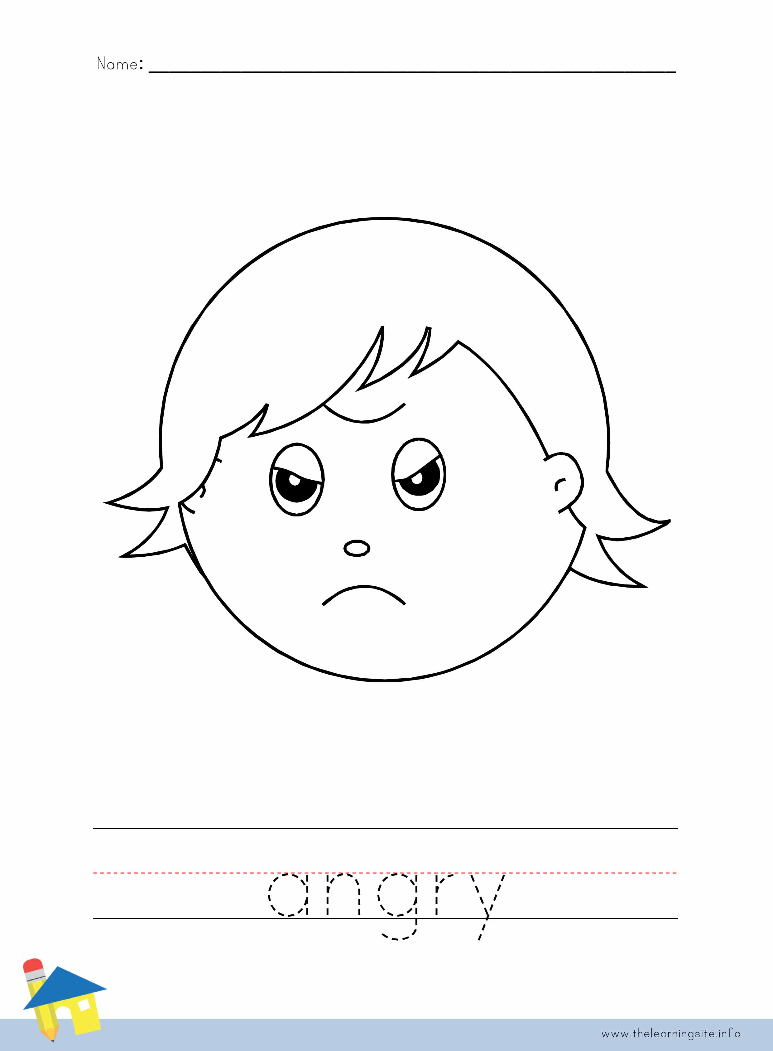 Feeling Angry Coloring Page Coloring Pages
