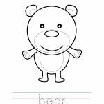 Bear Coloring Worksheet