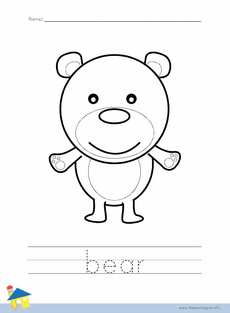 Bear Coloring Worksheet