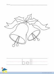 Bell Coloring Worksheet