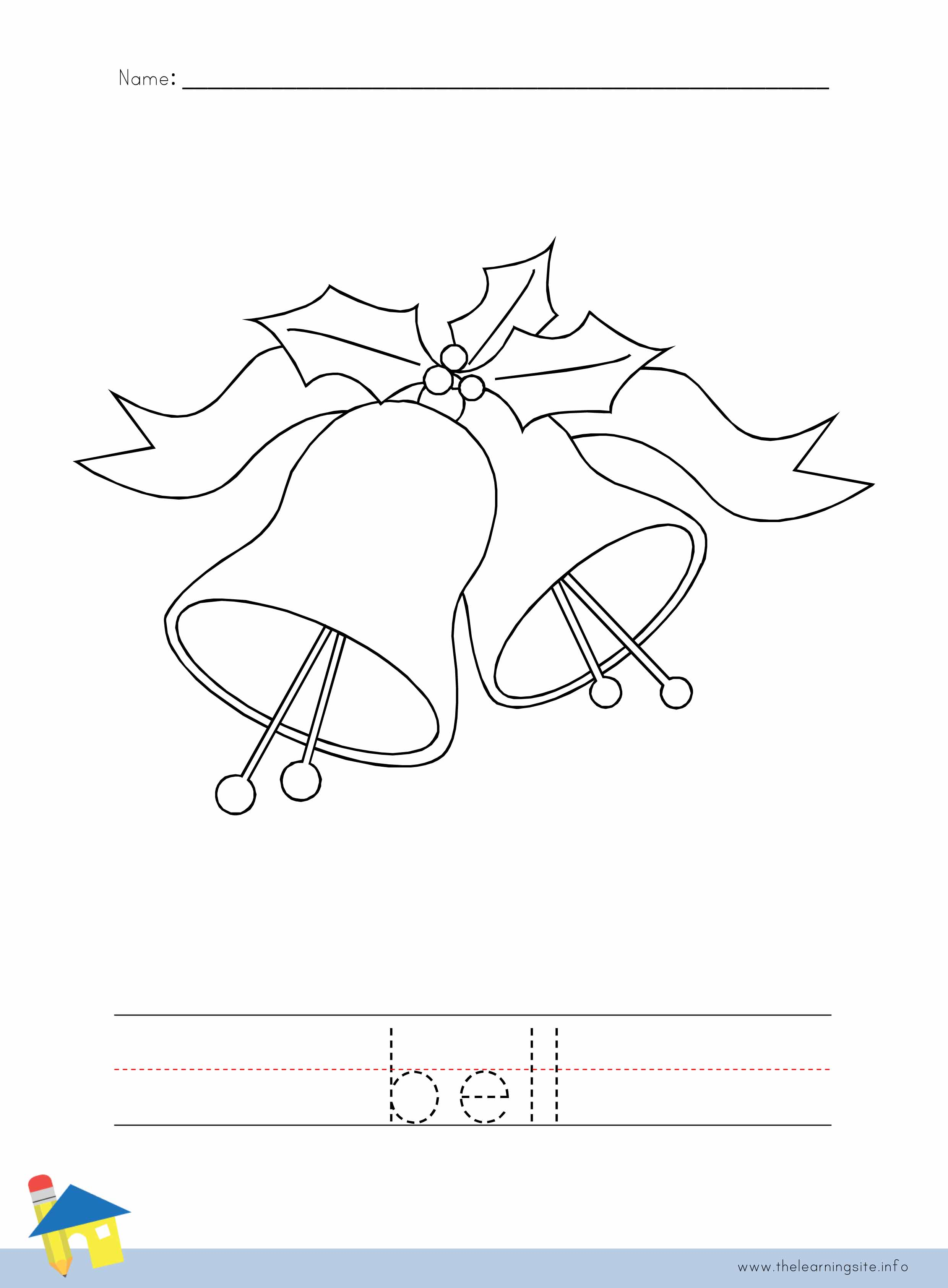Bell Coloring Worksheet