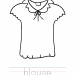 Blouse Coloring Worksheet