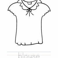Blouse Coloring Worksheet