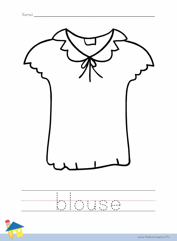 Blouse Coloring Page Outline