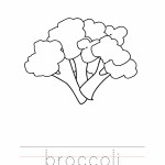 Broccoli Coloring Worksheet