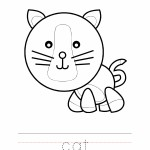 Cat Coloring Worksheet