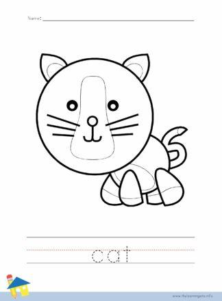 Cat Coloring Worksheet