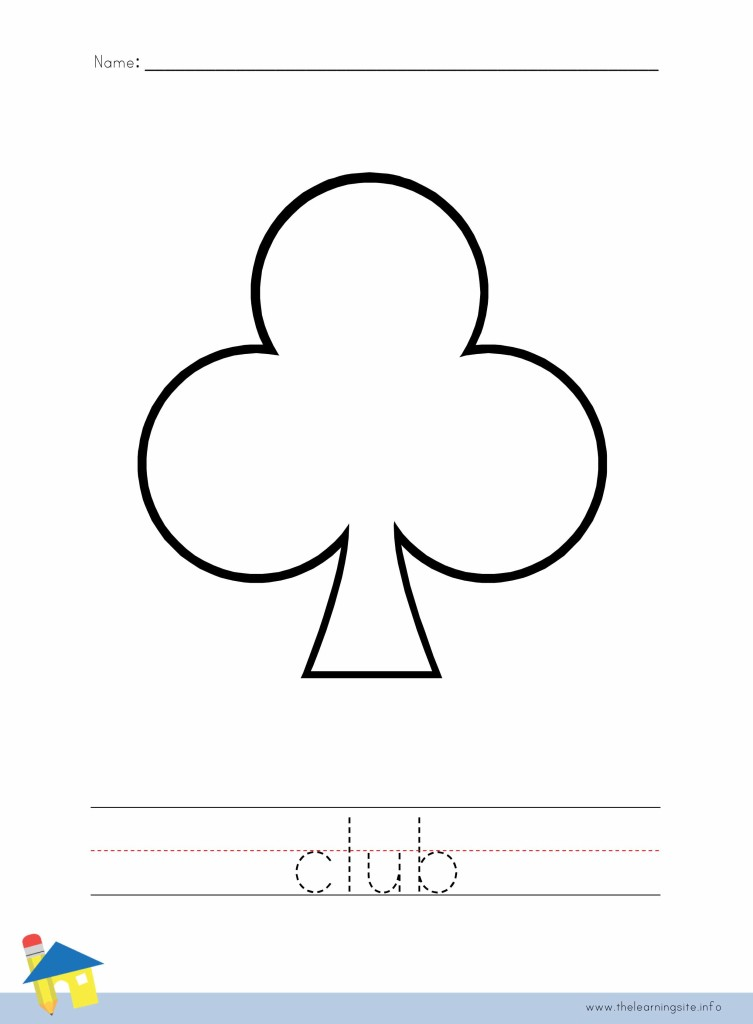 Club Coloring Page Outline