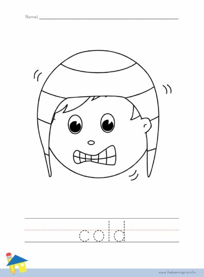 Cold Coloring Worksheet