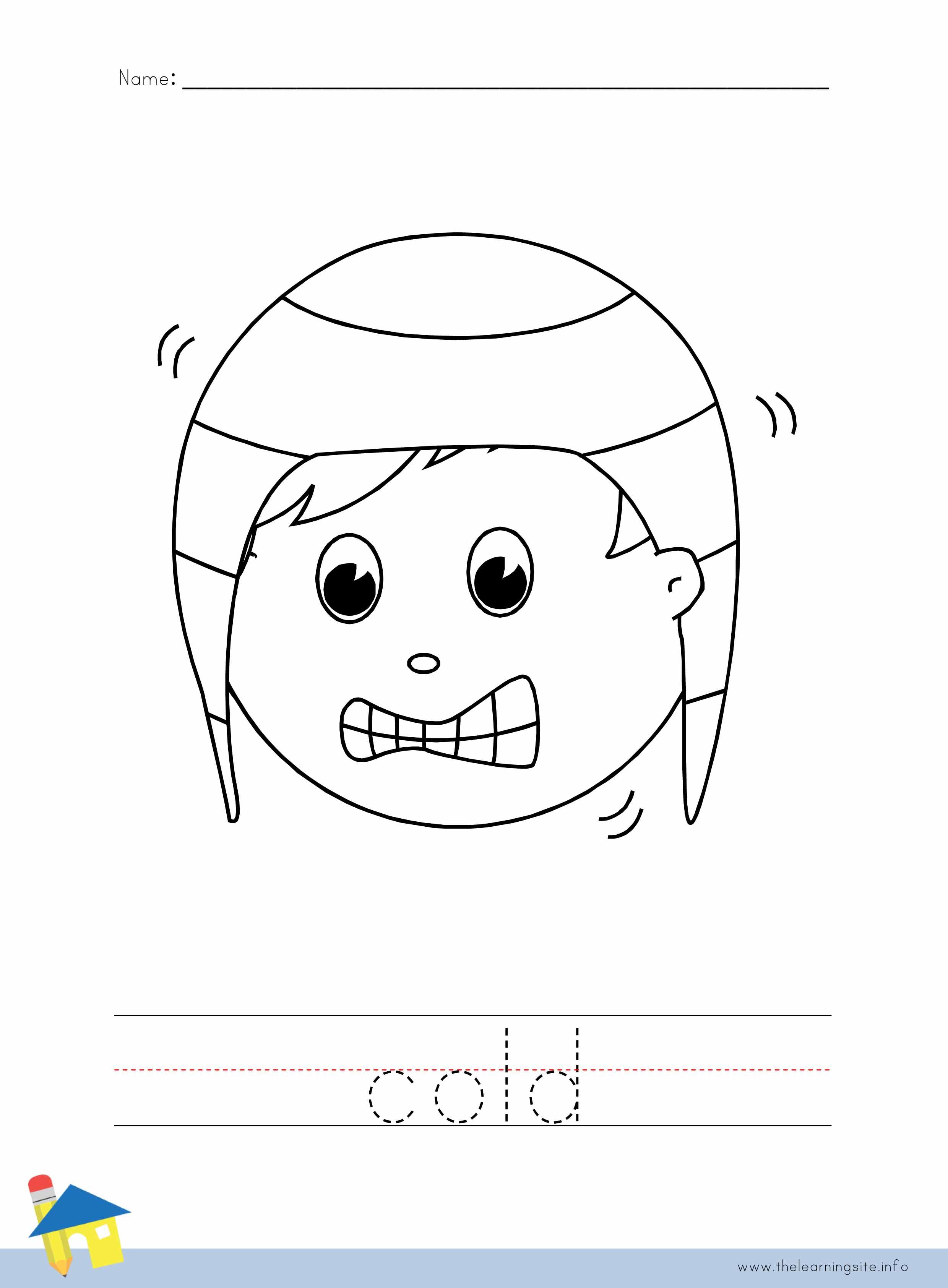 Cold Coloring Worksheet