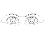 coloring page-body parts-eyes-01