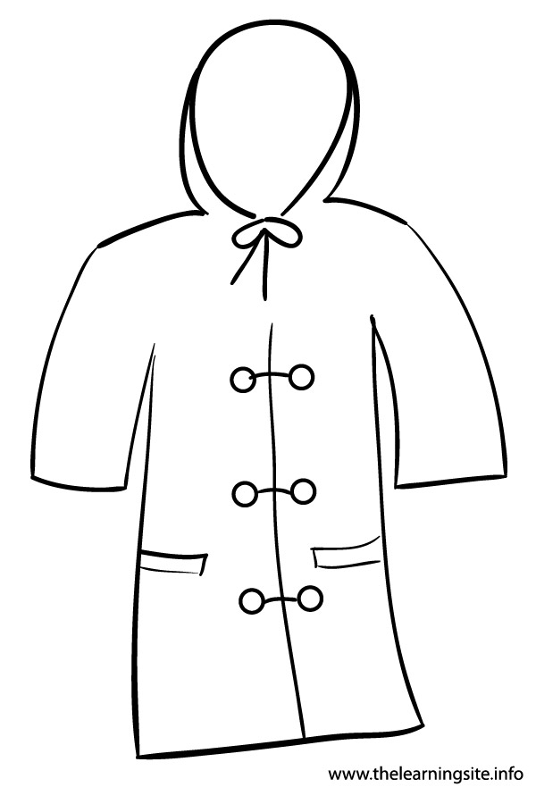 The learning site for Winter coat coloring page